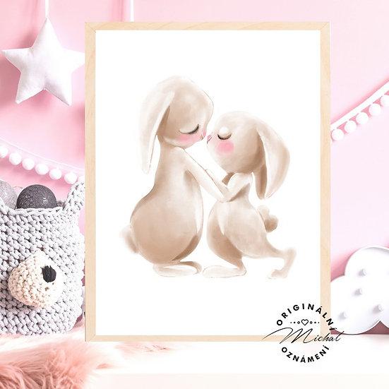 Plakát zajíčkové miláčci maminka
