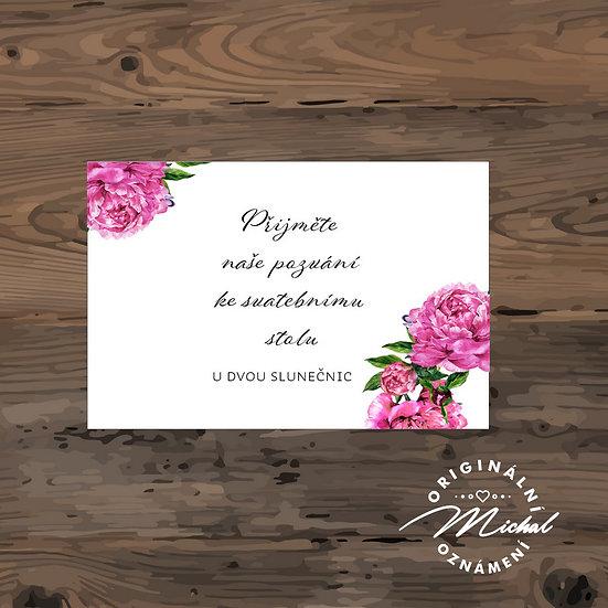 Pozvánka ke svatebnímu stolu - TYP 222