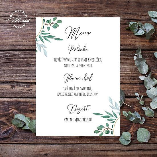 Svatební menu - TYP M06