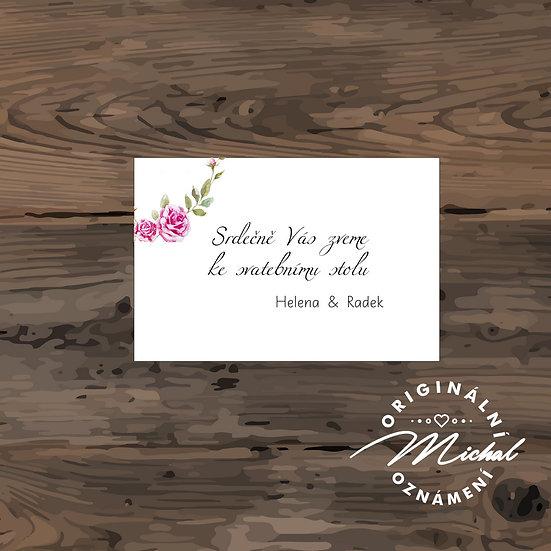 Pozvánka ke svatebnímu stolu - TYP 133