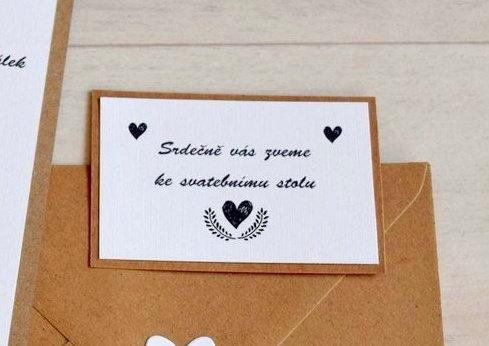 Pozvánka ke svatebnímu stolu - TYP 26