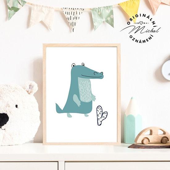 Plakát dinousaurus pro kluky