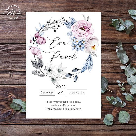 Svatební oznámení - TYP 316