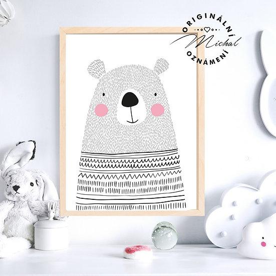 Plakát zamilovaný medvídek