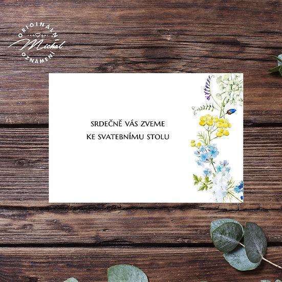 Pozvánka ke svatebnímu stolu - TYP 337