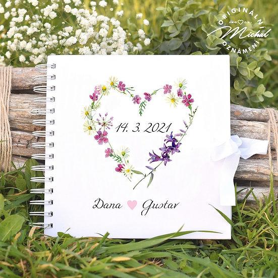 Svatební kniha hostů v pevných knižních deskách - 44