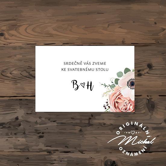 Pozvánka ke svatebnímu stolu - TYP 269