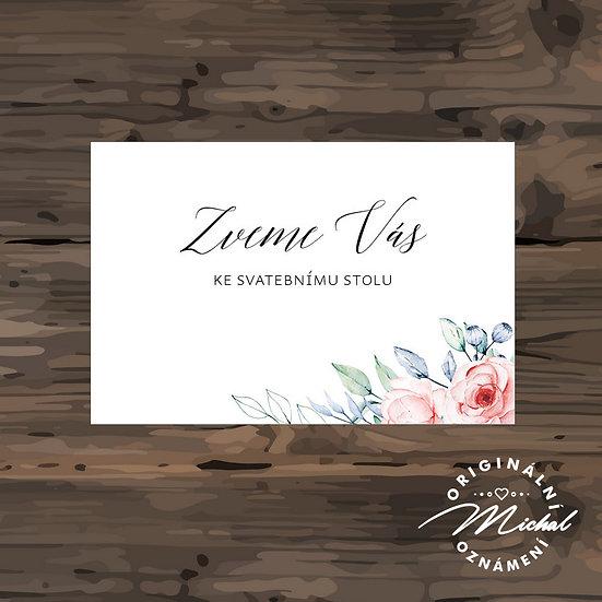 Pozvánka ke svatebnímu stolu - TYP 292