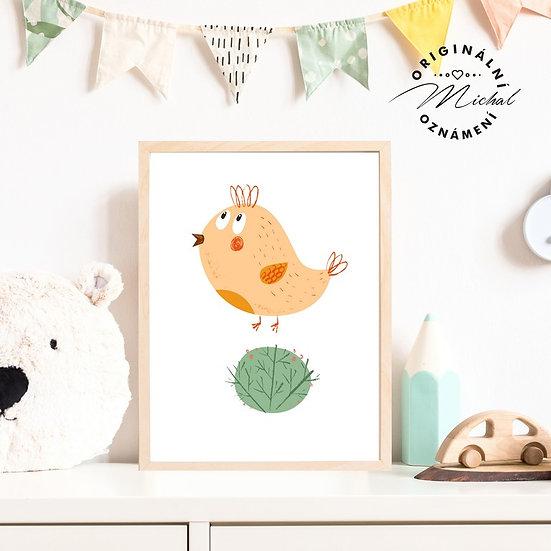 Plakát ptáček Slavíček