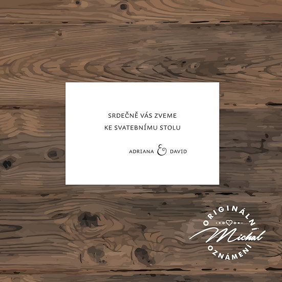 Pozvánka ke svatebnímu stolu - TYP 149
