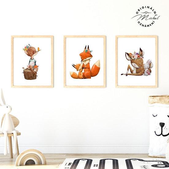 Plakát set liška, srnečka a láska
