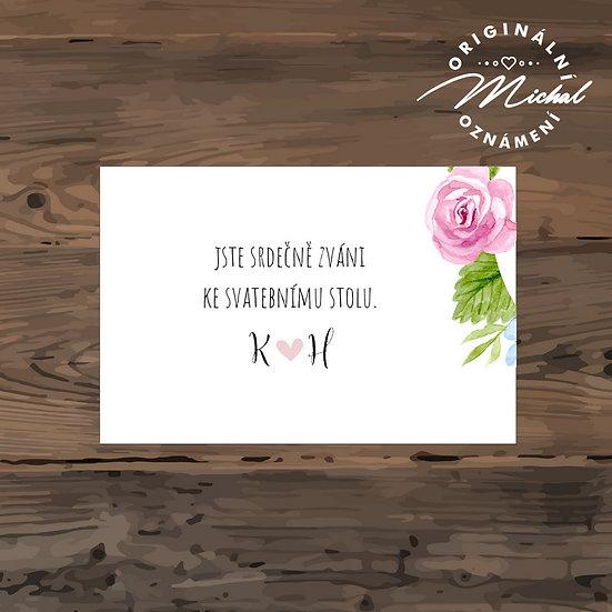 Pozvánka ke svatebnímu stolu - TYP 226