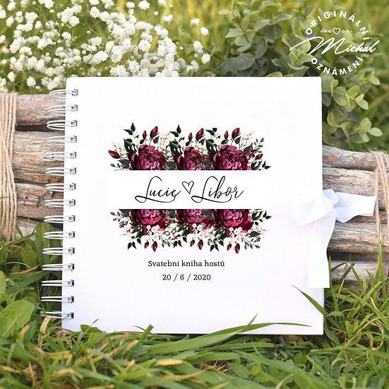 Svatební kniha hostů v pevných knižních deskách - 35