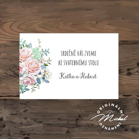 Pozvánka ke svatebnímu stolu - TYP 162