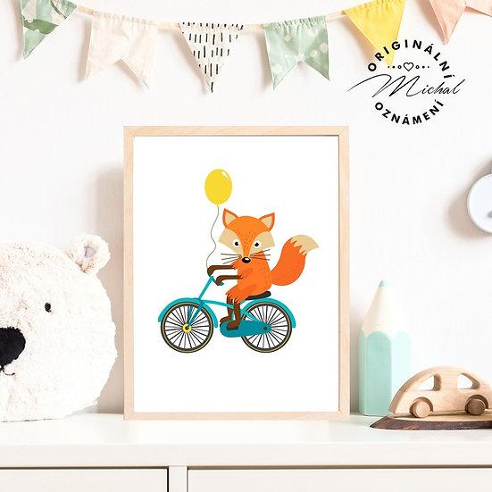 Plakát lišák na kole kolo