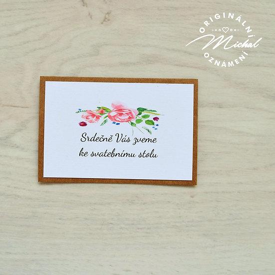 Pozvánka ke svatebnímu stolu - TYP 37