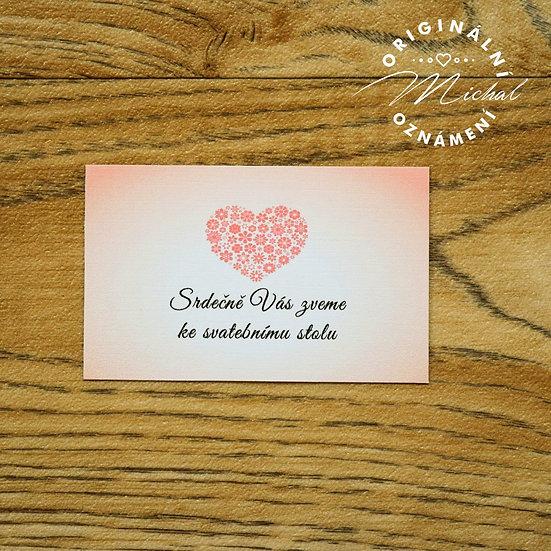 Pozvánka ke svatebnímu stolu - TYP 46