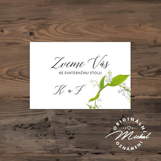 Pozvánka ke svatebnímu stolu - TYP 268