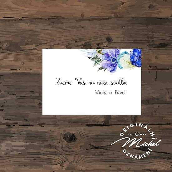 Pozvánka ke svatebnímu stolu - TYP 134