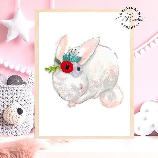 Plakát spinkající králíček
