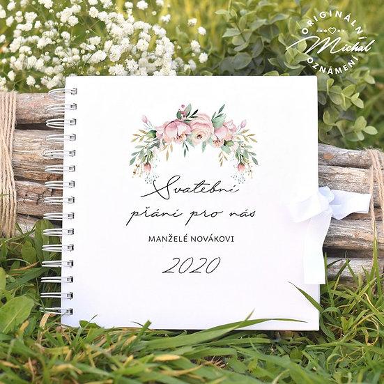 Svatební kniha hostů v pevných knižních deskách - 27