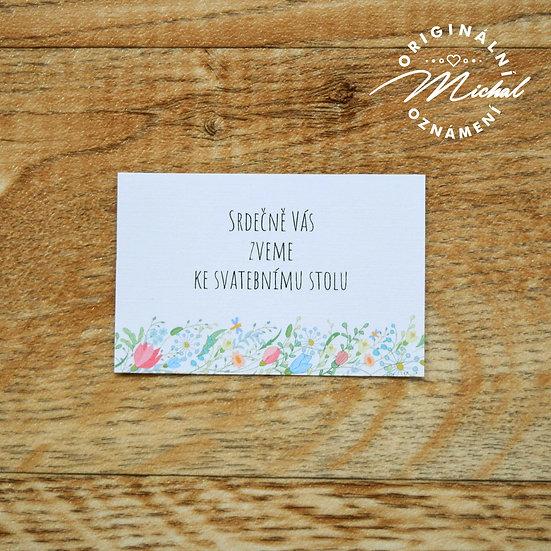 Pozvánka ke svatebnímu stolu - TYP 49