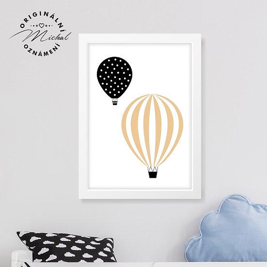 Balónky neutrální – plakát