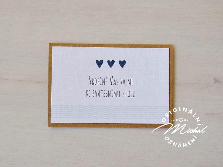 Pozvánka ke svatebnímu stolu - TYP 12