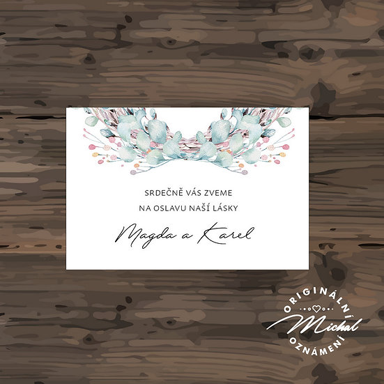 Pozvánka ke svatebnímu stolu - TYP 298