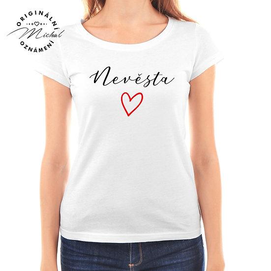 Svatební tričko s potiskem - D42