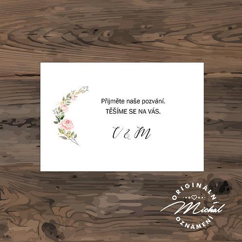 Pozvánka ke svatebnímu stolu - TYP 243