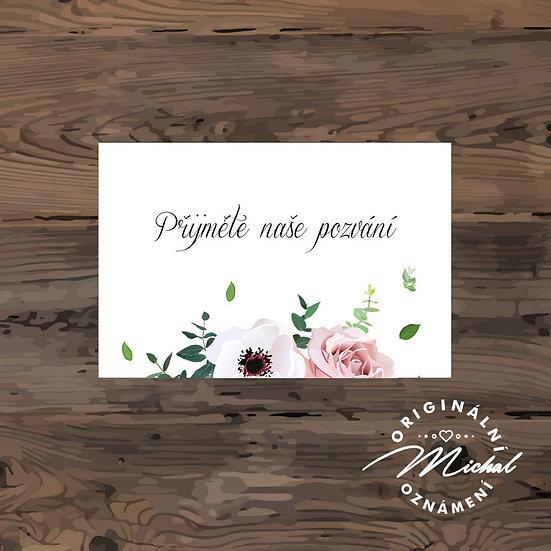 Pozvánka ke svatebnímu stolu - TYP 216