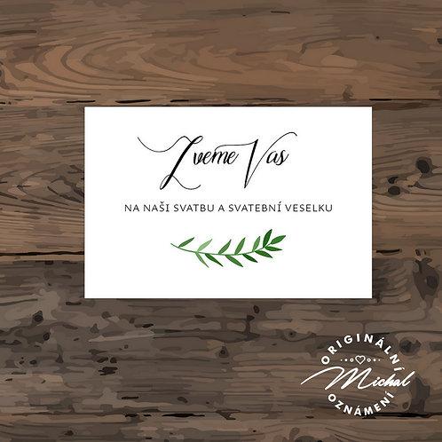 Pozvánka ke svatebnímu stolu - TYP 270