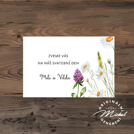 Pozvánka ke svatebnímu stolu - TYP 179