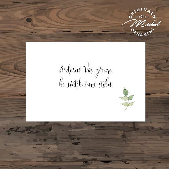 Pozvánka ke svatebnímu stolu - TYP 223