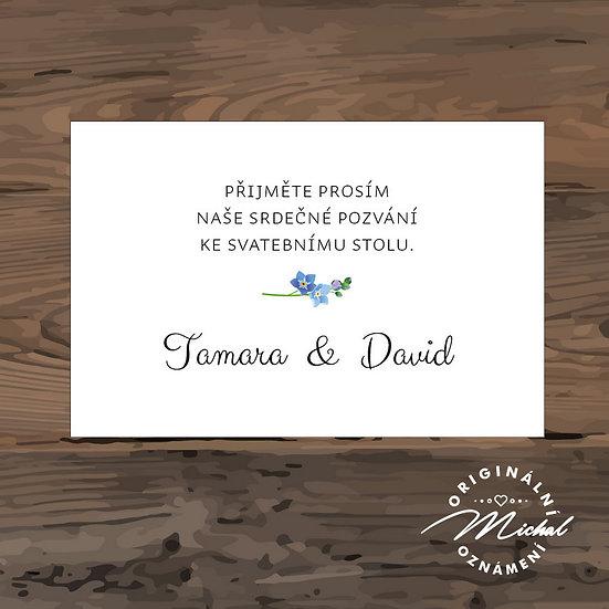 Pozvánka ke svatebnímu stolu - TYP 234