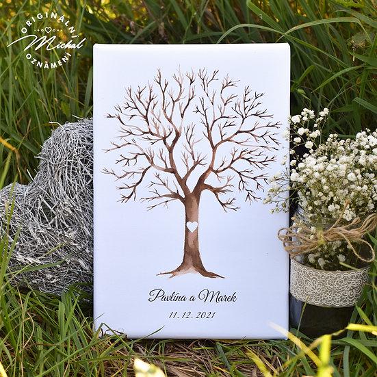Svatební strom, svatební strom na plátně