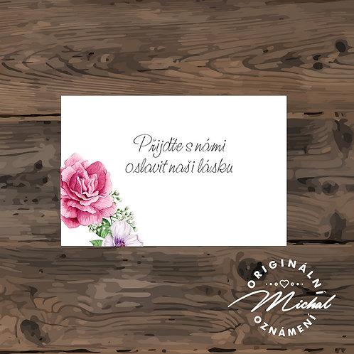 Pozvánka ke svatebnímu stolu - TYP 254