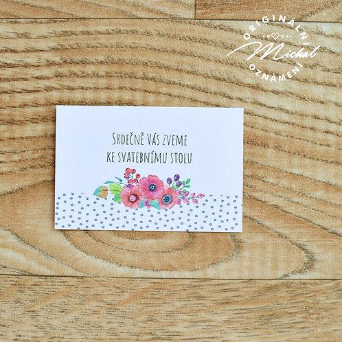 Pozvánka ke svatebnímu stolu - TYP 36