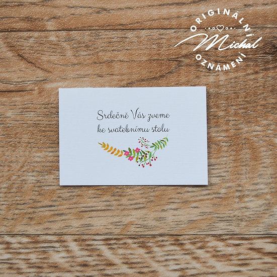 Pozvánka ke svatebnímu stolu - TYP 52