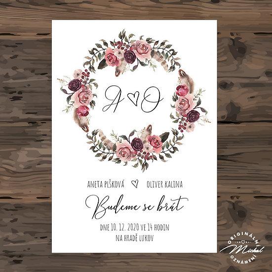 Svatební oznámení - TYP 293