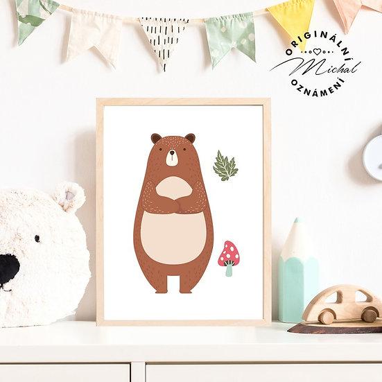 Plakát les medvídek Béďa
