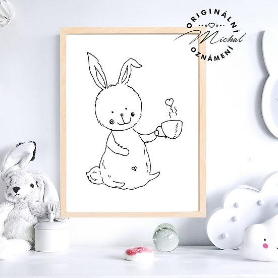 Plakát zajíček králíček
