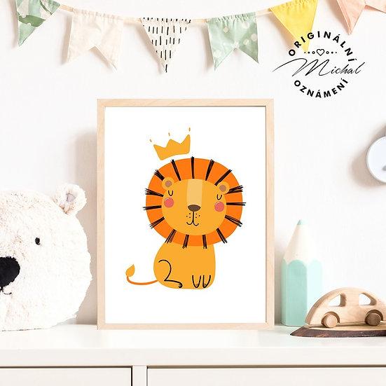 Plakát lev král