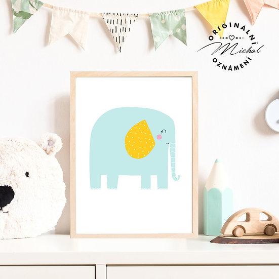 Plakát slon sloník Maxík