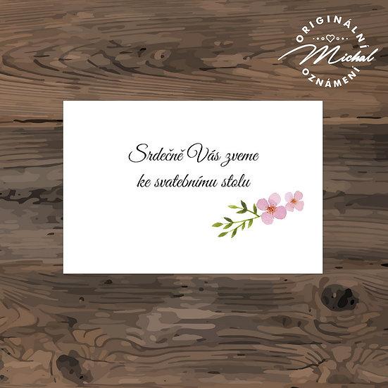 Pozvánka ke svatebnímu stolu - TYP 242