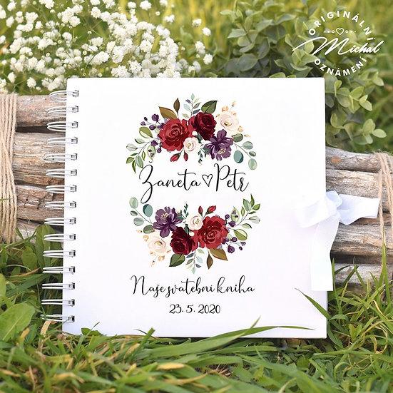 Svatební kniha hostů v pevných knižních deskách - 36