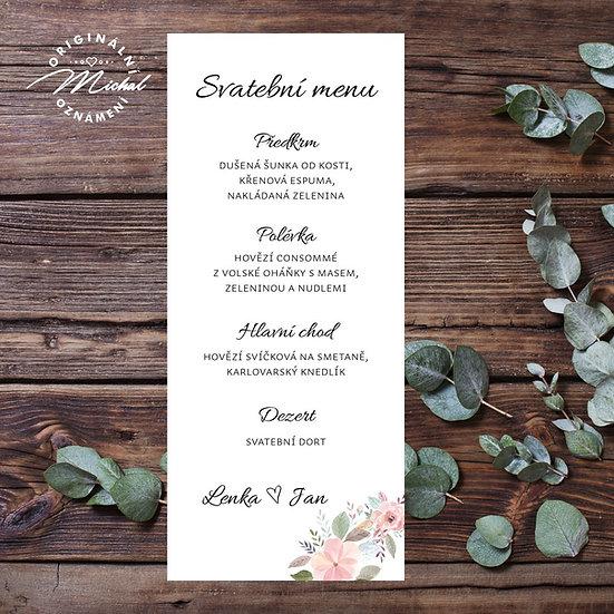 Svatební menu - TYP M07