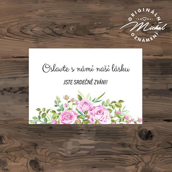 Pozvánka ke svatebnímu stolu - TYP 257