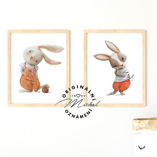 Plakát set zajíčkové rošťáci